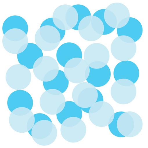 Obrázok z Papírové konfety kolečka světle modré a modré 22g