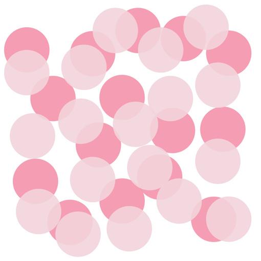 Obrázok z Papírové konfety kolečka světle růžové a růžové 22g