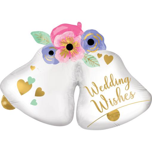 Obrázok z Fóliový balónik svadobné zvončeky 83 cm