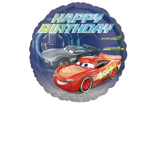 Obrázok z Foliový balonek Cars - Happy Birthday 43 cm