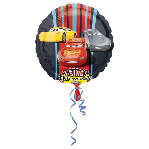 Obrázok z Foliový zpívající balonek Cars 71 cm