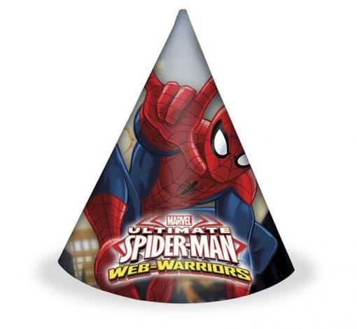 Obrázok z Party čepičky Spiderman Ultimate Warrior 6 ks