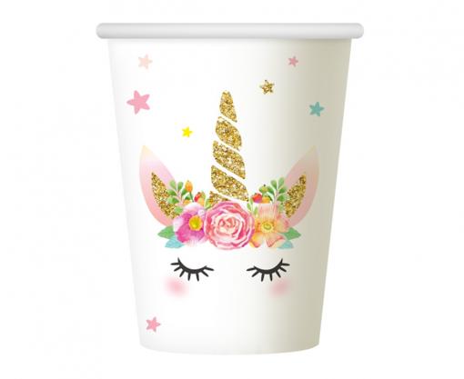 Obrázok z Party kelímky Jednorožec Floral 6 ks