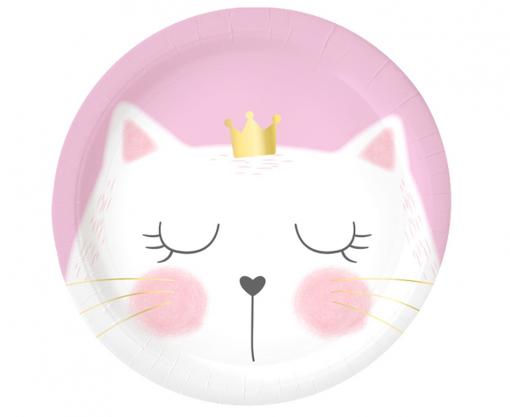 Obrázok z Papírové talíře Kočičí princezna 23 cm - 6 ks