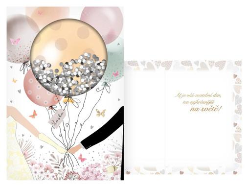 Obrázok z Svadobné želanie Láska - balóniky