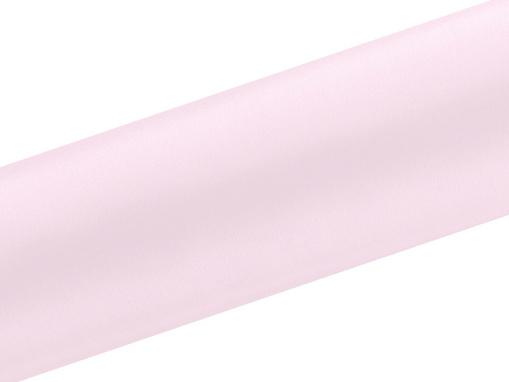Obrázok z Satén v úlohe úzky svetlo ružový 16 cm x 9 m