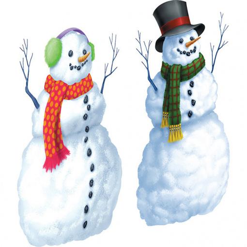 Obrázok z Vánoční dekorace - sněhuláci plastic 165 x 85 cm