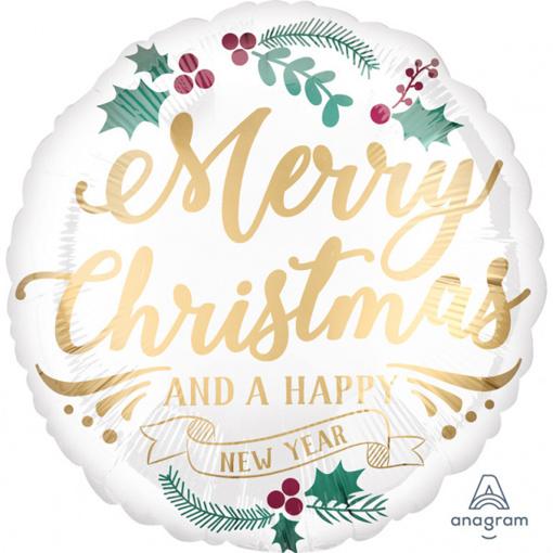 Obrázok z Fóliový balónik vianočné - Merry Christmas and Happy new Year 45 cm