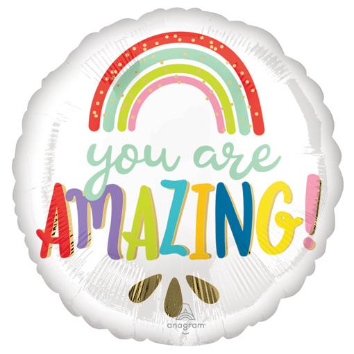 Obrázok z Foliový  balonek duha - You are amazing 43 cm