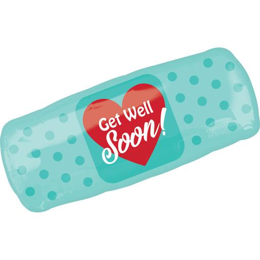 Obrázok z Foliový  balonek náplast - Get well soon 73 cm
