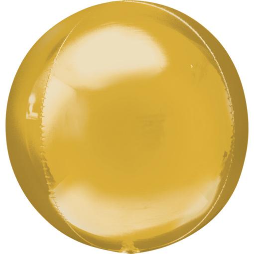 Obrázok z Foliový balonek koule Orbz zlatá 40 cm
