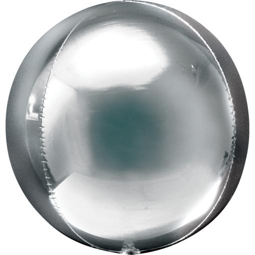 Obrázok z Foliový balonek koule Orbz stříbrná 40 cm