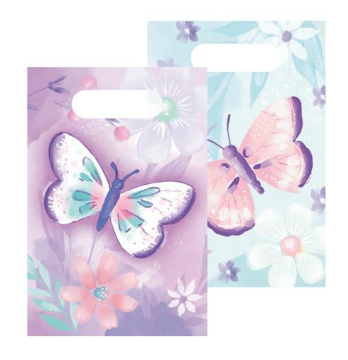 Obrázok z Party tašky Motýliky 8 ks