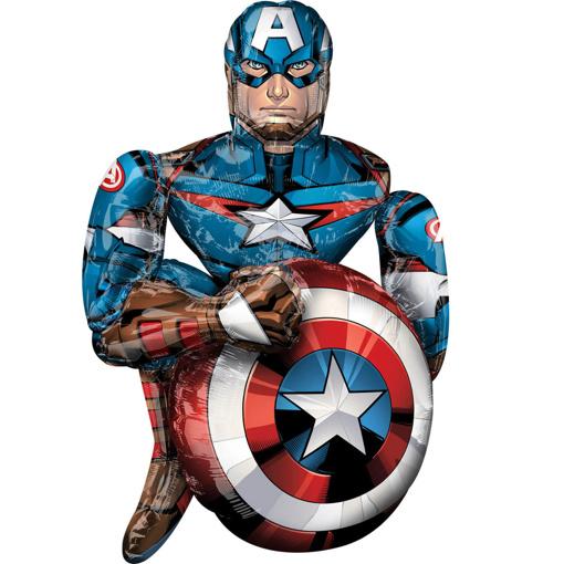 Obrázok z Chodící balonek Captain America 99 cm