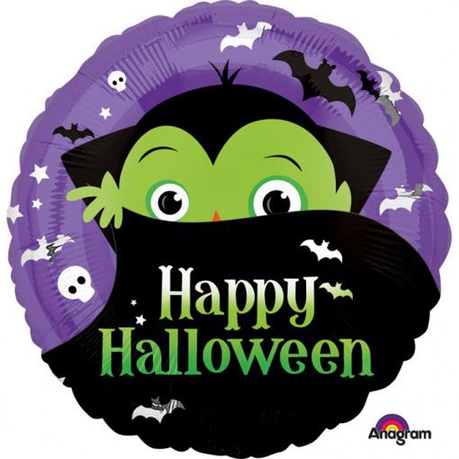Obrázok z Foliový balonek Happy halloween -  Dracula 43 cm