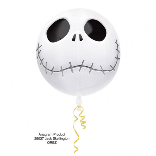 Obrázok z Foliový balonek koule halloween - Jack Skellington 40 cm