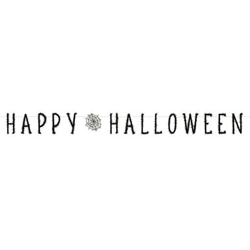 Obrázok z Party papierový nápis Happy Halloween - pavučiny 180 x 15 cm