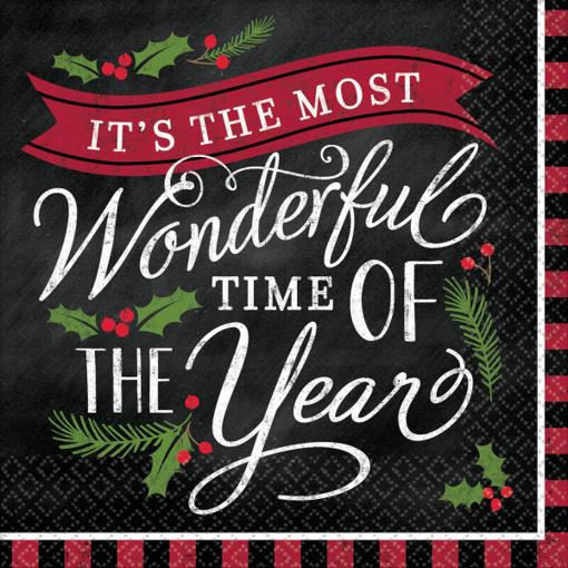 Obrázok z Papírové vánoční ubrousky Wonderful Time 16 ks