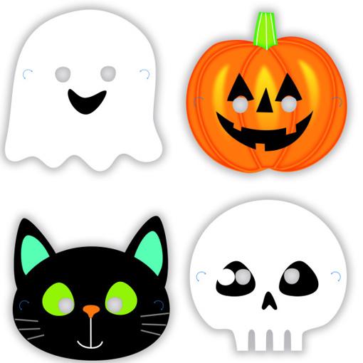 Obrázok z Papírové halloweenské masky 8 ks