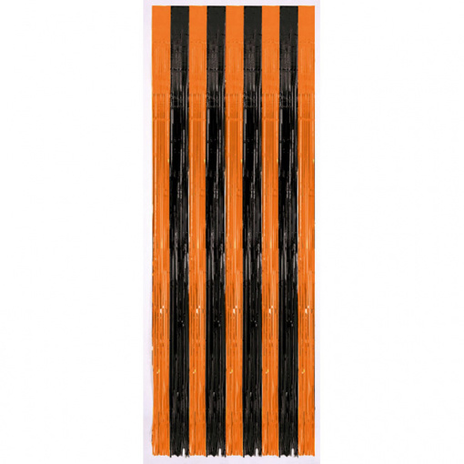 Obrázok z Závěs do dveří oranžovo-černý 243 x 91 cm