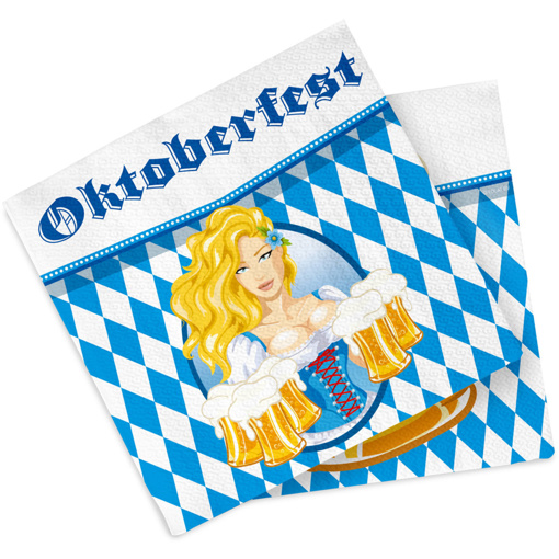 Obrázok z Papírové party ubrousky Oktoberfest Beer 20 ks
