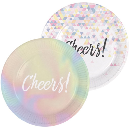 Obrázok z Papírové talíře perleťové Cheers 23 cm - 6 ks
