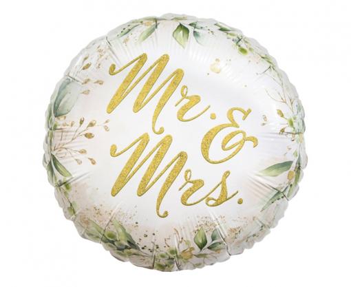 Obrázok z Foliový balonek květiny - Mr a Mrs 45 cm
