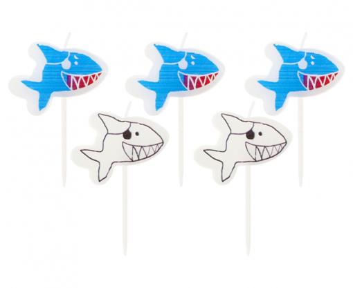 Obrázok z Dortové svíčky žralok 5 ks