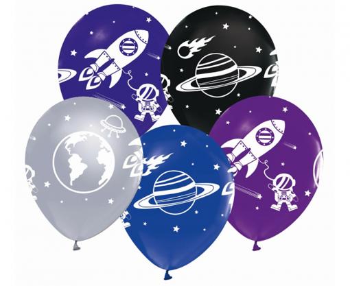 Obrázok z Latexové balonky Vesmír 30 cm - 5 ks