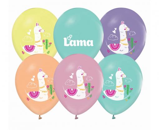 Obrázok z Latexové balonky Lama 30 cm - 5 ks