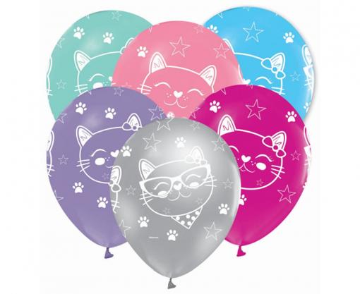 Obrázok z Latexové balonky Kočička 30 cm - 5 ks