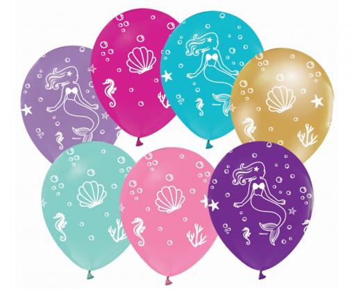 Obrázok z Latexové balonky Podmořský svět a mořská panna 30 cm - 5 ks