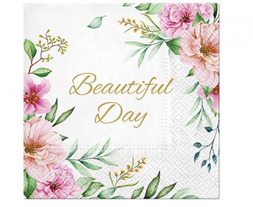 Obrázok z Papírové ubrousky  Beautiful Day Floral - 20 ks