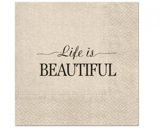 Obrázok z Papírové ubrousky Život je krásný - 20 ks