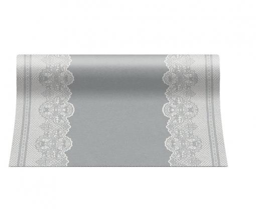 Obrázok z Stolová šerpa Royal Lace Stříbrná - 40cm x 24m - papírová